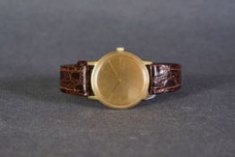 GENTLEMENS OMEGA SEAMASTER 18CT GOLD WRISTWATCH REF. 165008, circular champagne unsigned dial with