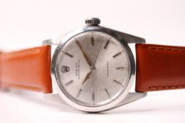 VINTAGE ROLEX OYSTER ROYAL REFERENCE 6426 CIRCA 1966, silver dial, baton and coffin hour markers,