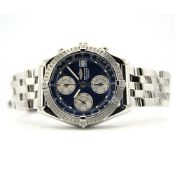 GENTLEMAN'S BREITLING CHRONOMAT BLUE A13352, JUNE 2002 WITH ORIGINAL PAPERS, BREITLING CAL. B13,