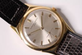 VINTAGE 18CT VACHERON & CONSTANTIN GENEVE DRESS WATCH, silvered circular dial, baton hour markers,