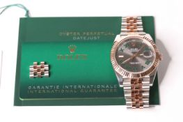 2020 ROLEX OYSTER PERPETUAL DATE JUST WIMBLEDON EVEROSE REFERENCE 126331, circular grey dial,