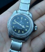 GENTLEMENS VINTAGE ROLEX SUBMARINER WRISTWATCH REF 5512 CIRCA 1963, Pointed Crown Guard, case back