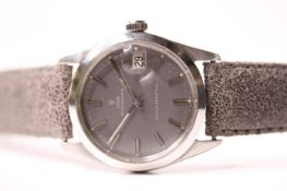 VINTAGE TUDOR OYSTER DATE REFERENCE 7992/0 CIRCA 1960S, circular grey dial, baton hour markers,