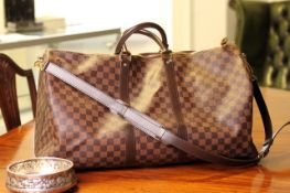 Louis Vuitton Bandouliere Holdall, damier ebene canvas, two rounded top handles with a detachable