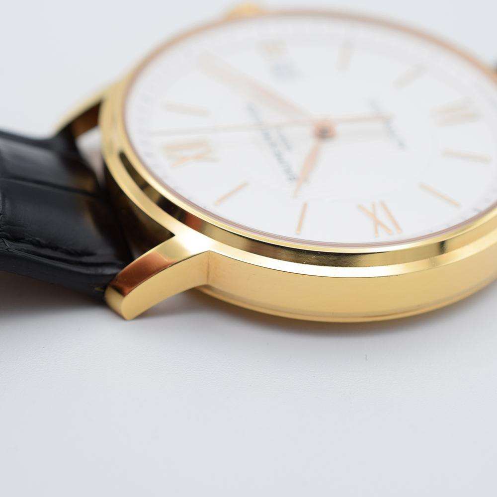 GENTLEMAN'S BAUME & MERCIER CLASSIMA 18K PINK GOLD, REF. MOA10037, JUNE 2017 BOX AND PAPERS, - Image 6 of 10