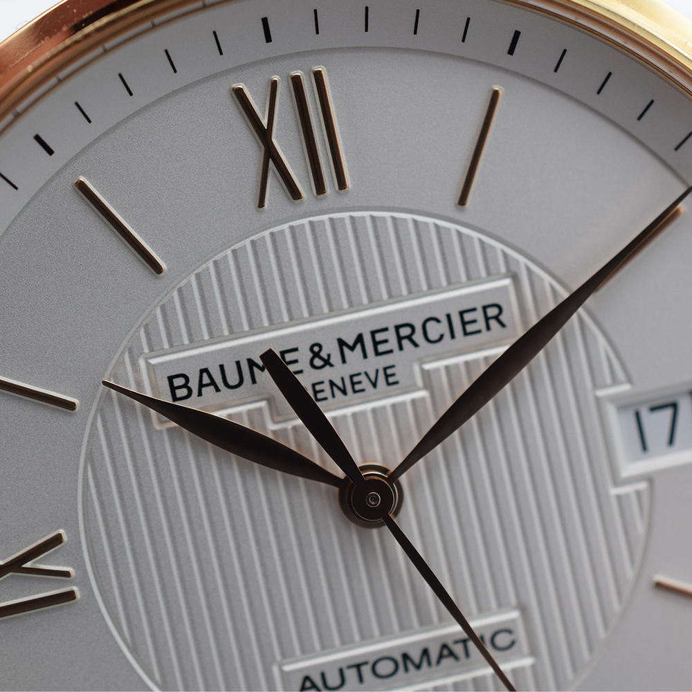 GENTLEMAN'S BAUME & MERCIER CLASSIMA 18K PINK GOLD, REF. MOA10037, JUNE 2017 BOX AND PAPERS, - Image 7 of 10