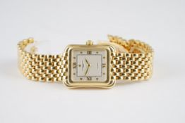 MID SIZE VACHERON CONSTANTIN 18CT GOLD AUTOMATIC TOLEDO WRISTWATCH, rectangular two tone dial with