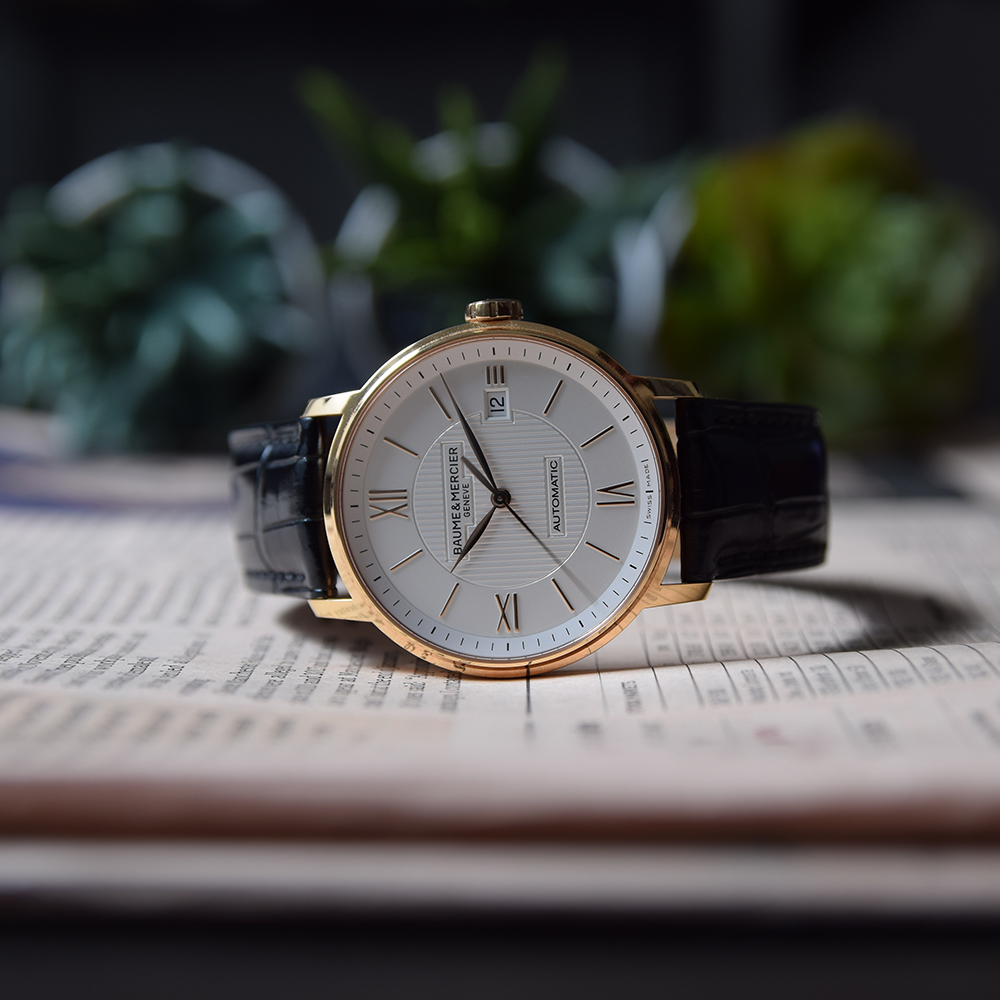 GENTLEMAN'S BAUME & MERCIER CLASSIMA 18K PINK GOLD, REF. MOA10037, JUNE 2017 BOX AND PAPERS, - Image 3 of 10