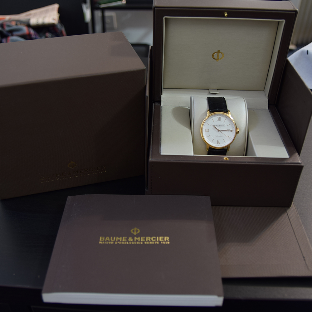 GENTLEMAN'S BAUME & MERCIER CLASSIMA 18K PINK GOLD, REF. MOA10037, JUNE 2017 BOX AND PAPERS, - Image 2 of 10