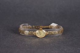 LADIES ROTARY 9CT GOLD WRISTWATCH, oval gold dial