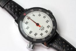 HEUER MILITARY STOPWATCH REFERERENCE 503051 WITH HEUER POUCH, designed as an equestrian timer for