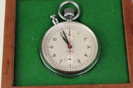 *TO BE SOLD WITHOUT RESERVE* NERO LEMANIA STEEL STOPWATCH WITH BOX, circular white dial with