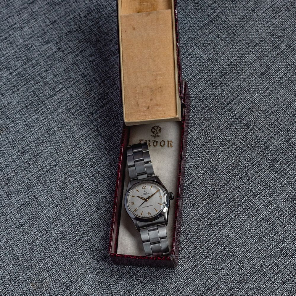 GENTLEMAN'S TUDOR OYSTER ROYAL, REF. 7934, CIRCA 1958/59, 34MM, BOX ONLY, circular white dial with - Image 4 of 13