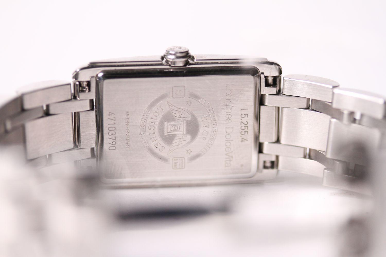 LONGINES DIAMOND DIAL DOLCE VITA WRISTWATCH REF L5.255.4 W/BOX & PAPERS, rectangular black dial - Image 3 of 3