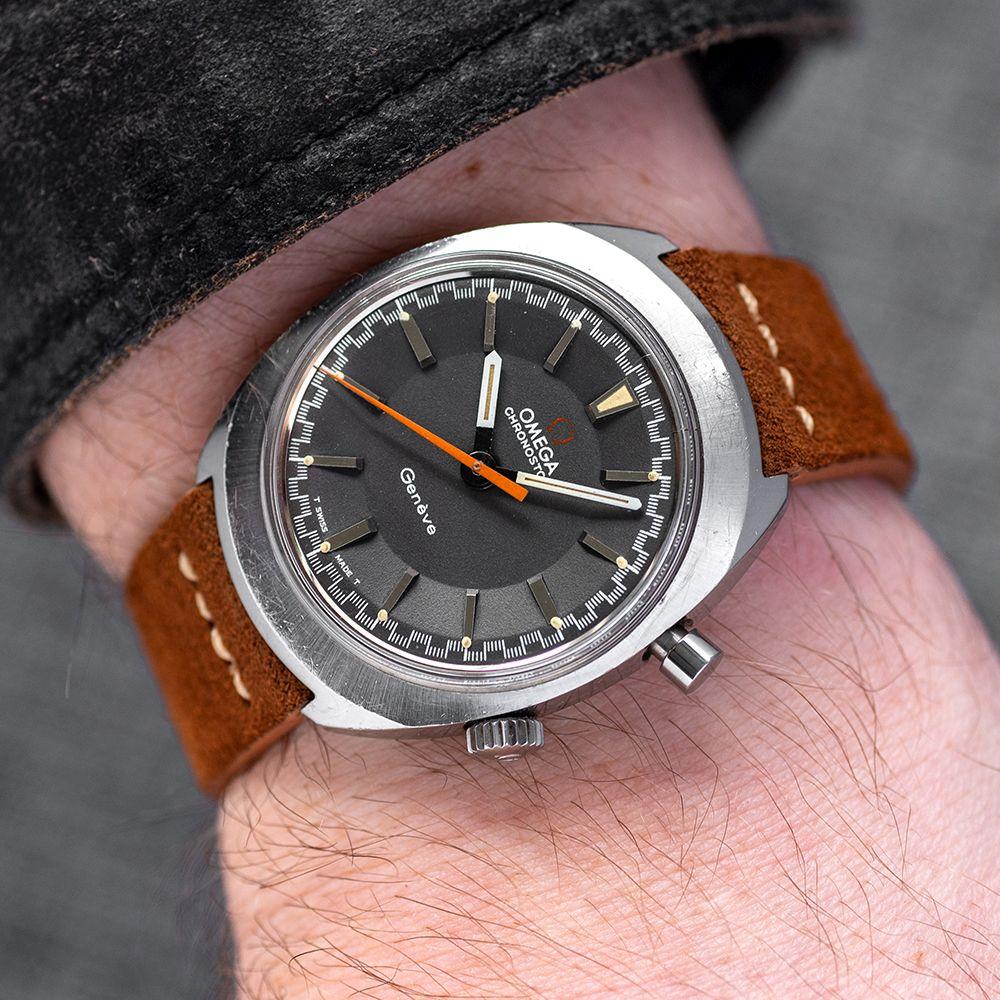 GENTLEMAN'S OMEGA CHRONOSTOP GENEVE, REF. 145.009, CIRCA 1968, 34.5MM MANUALLY WOUND WATCH, circular - Image 2 of 7