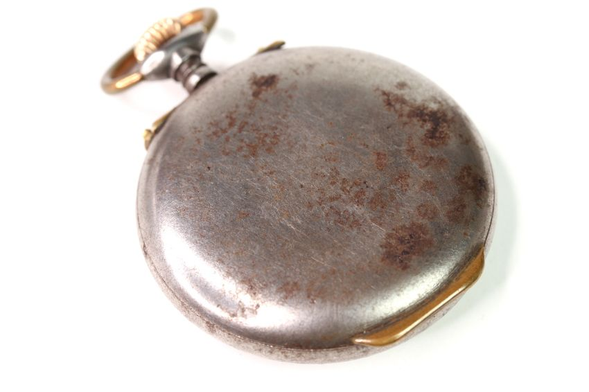 VINTAGE ZENITH ALARM POCKET WATCH, circular white dial with arabic numeral hour markers, subsidary - Image 2 of 3
