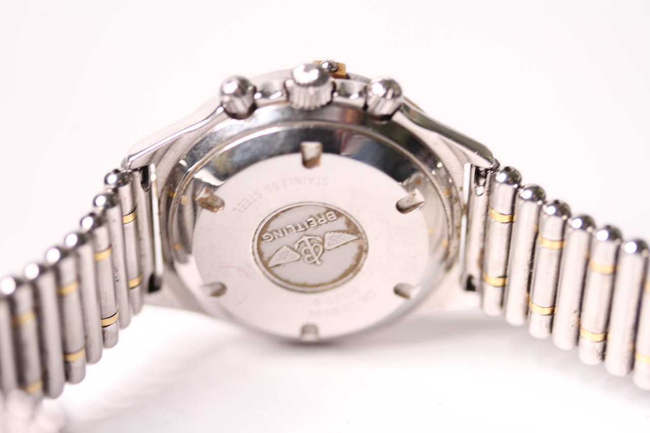 BREITLING CALLISTO CHRONOGRAPH WITH BREITLING TRAVEL CASE REFERENCE 80520-D, circular white dial - Image 2 of 4