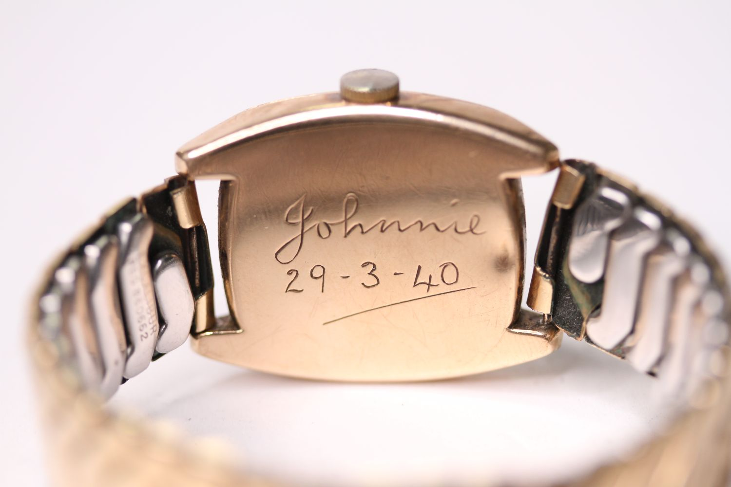 VINTAGE ROLEX WRISTWATCH, circular cream dial with arabic numbers, small seconds at 6 0'clock, - Image 2 of 3