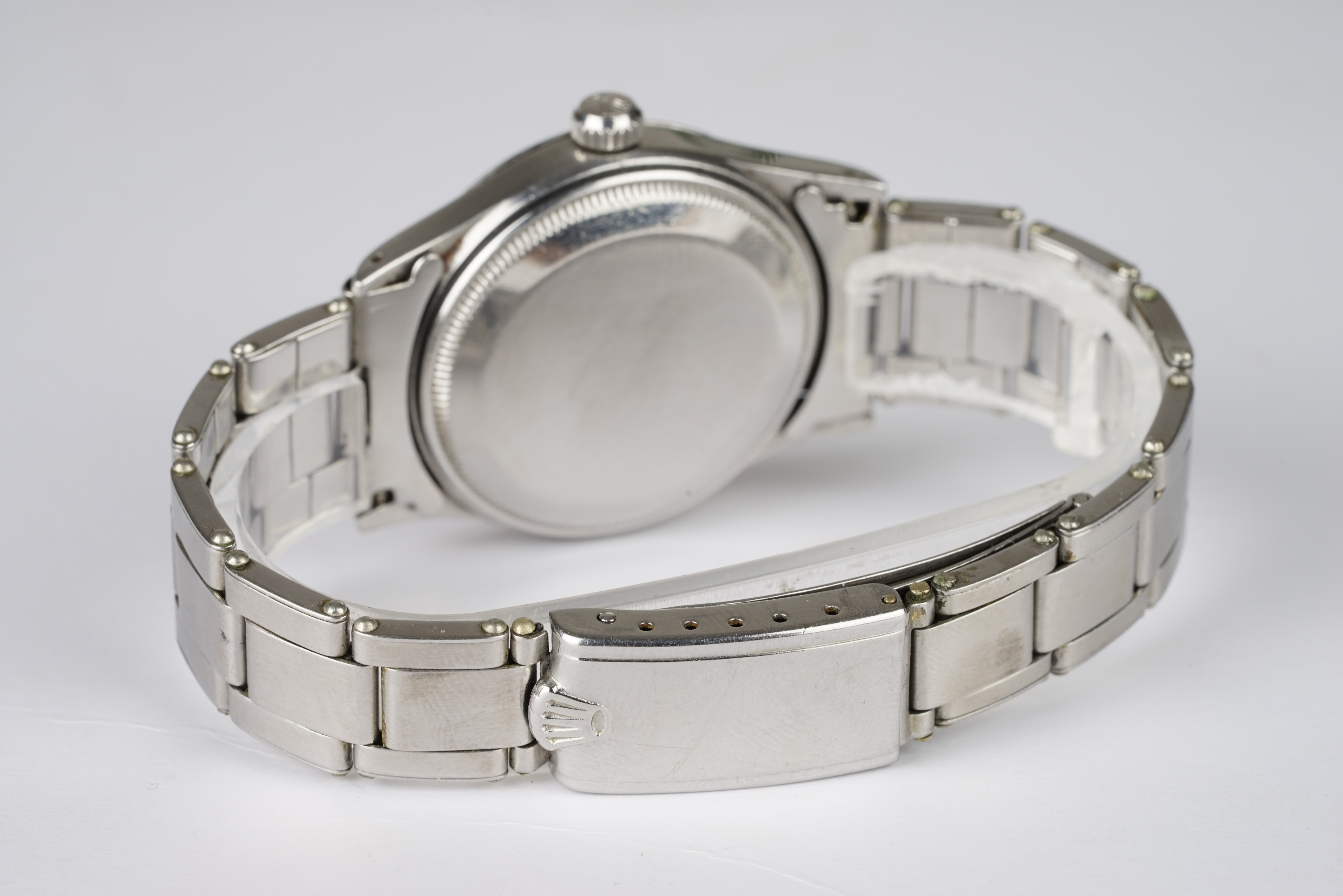 RARE GENTLEMENS ROLEX OYSTER PERPETUAL 'DEPTH RATING' 50M = 165FT WRISTWATCH REF. 6532 CIRCA 1955, - Image 4 of 4