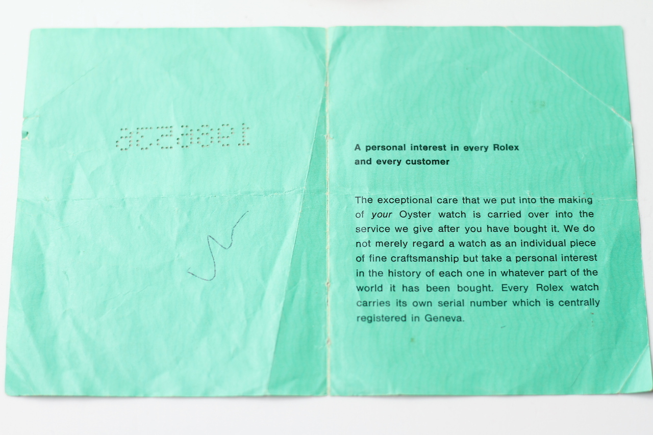 ROLEX AND TUDOR PAPERS, two pieces of guarantee paperwork for a Rolex DateJust dated 1970, Tudor - Image 3 of 7