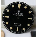 Vintage Rolex Gents Submariner Ref 5508 Dial, original early 1960s dial for ref 5508, still glossy