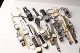 *TO BE SOLD WITHOUT RESERVE* A LARGE QUANTITY OF WATCHES (27) INCLUDING GUCCI , ARMARNI, ROTARY