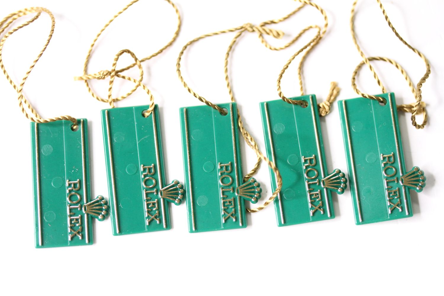 Set of NOS 1970s Rolex 'Swimpruf' swing tags for references; 6263 / 6265 / 5513 / 5512 / 1680 / 1665 - Image 2 of 2