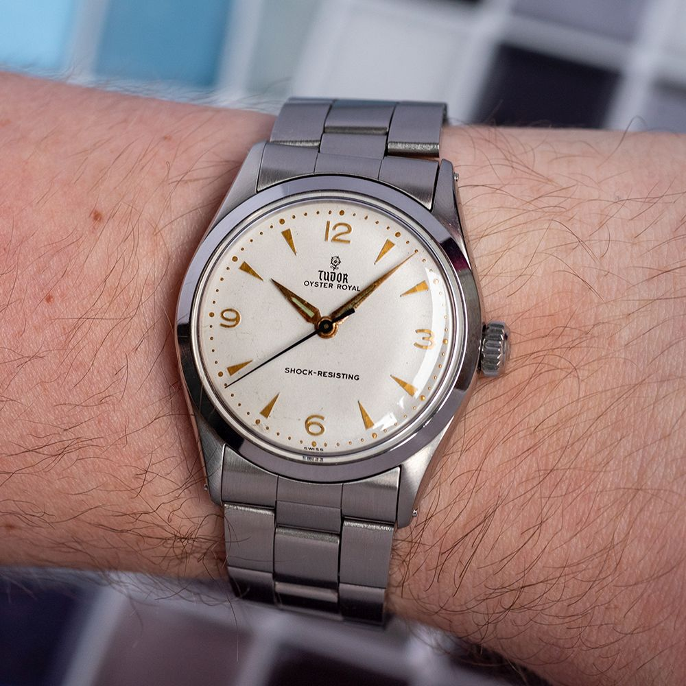 GENTLEMAN'S TUDOR OYSTER ROYAL, REF. 7934, CIRCA 1958/59, 34MM, BOX ONLY, circular white dial with - Image 2 of 13