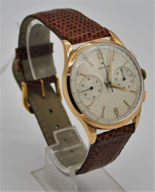 ZENITH JUMBO CHRONOGRAPH IN 18CT PINK GOLD CIRCA 1956. SERIAL 143831, REFERENCE 19518, ZENITH CAL. - Image 2 of 8