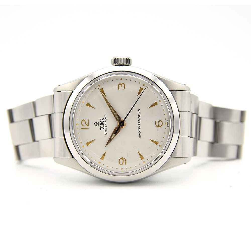 GENTLEMAN'S TUDOR OYSTER ROYAL, REF. 7934, CIRCA 1958/59, 34MM, BOX ONLY, circular white dial with