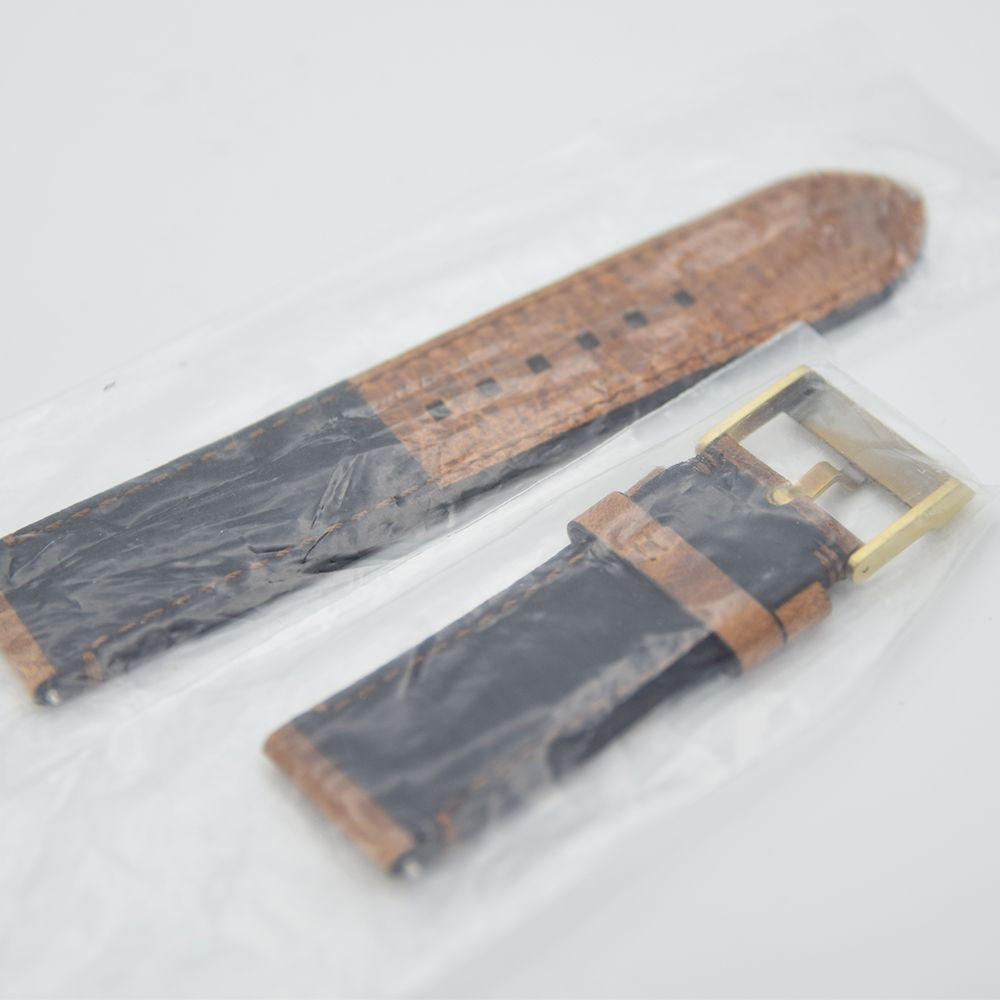 GENTLEMAN'S UNWORN TUDOR BLACK BAY BRONZE 23MM LEATHER STRAP WITH ORIGINAL TUDOR SIGNED BRONZE - Image 3 of 3