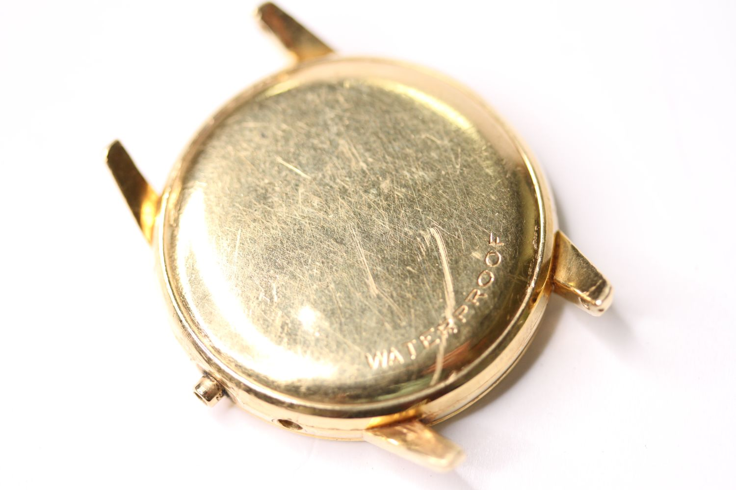 18CT OMEGA CASE, 35mm 18ct gold case, reads omega watch co, fab suisse, swiss made, 11479504, OT - Image 3 of 3