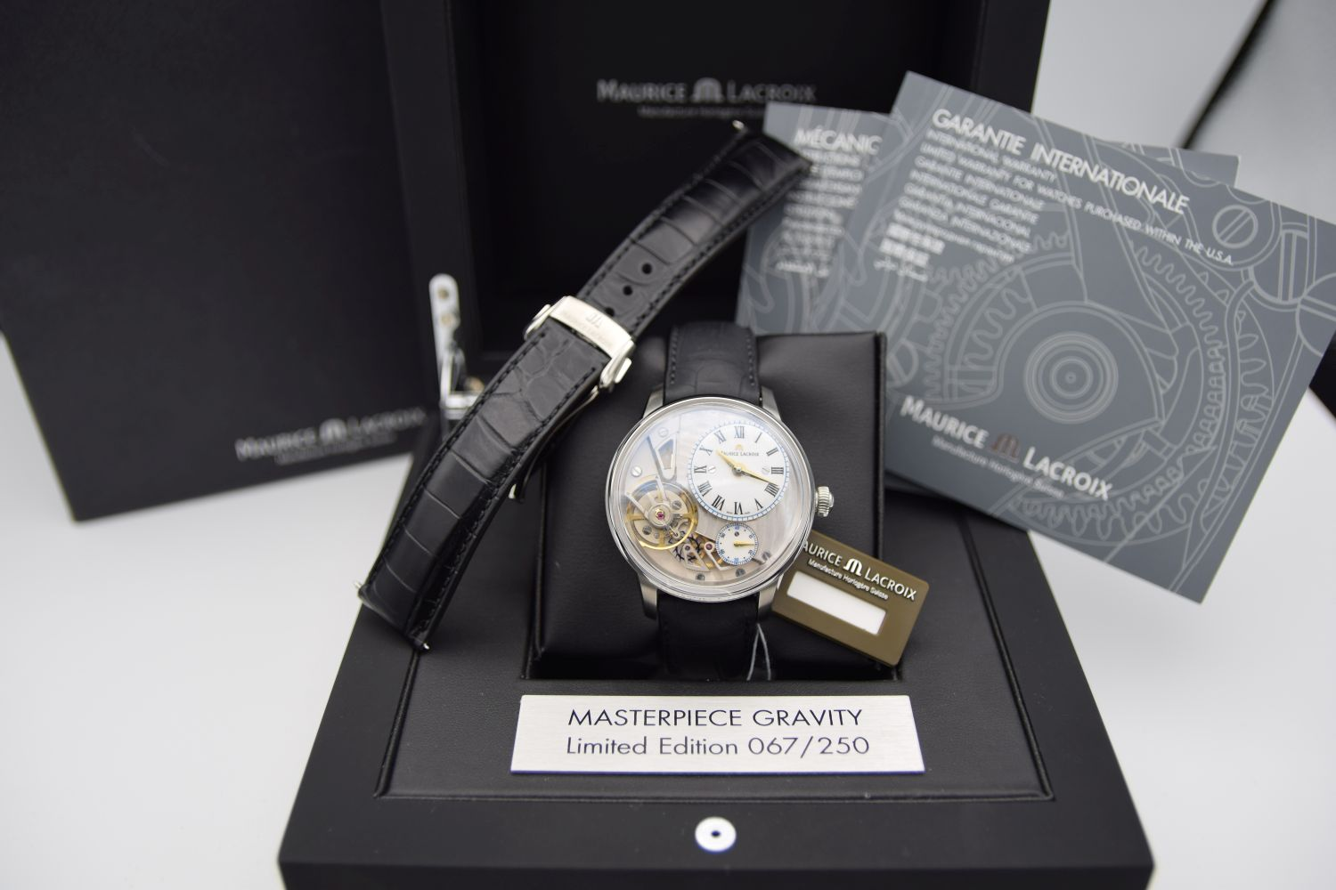 GENTLEMAN'S MAURICE LACROIX MATERPIECE GRAVITY LIMITED EDITION, AUTOMATIC MANUFACTURE ML230, - Image 5 of 8