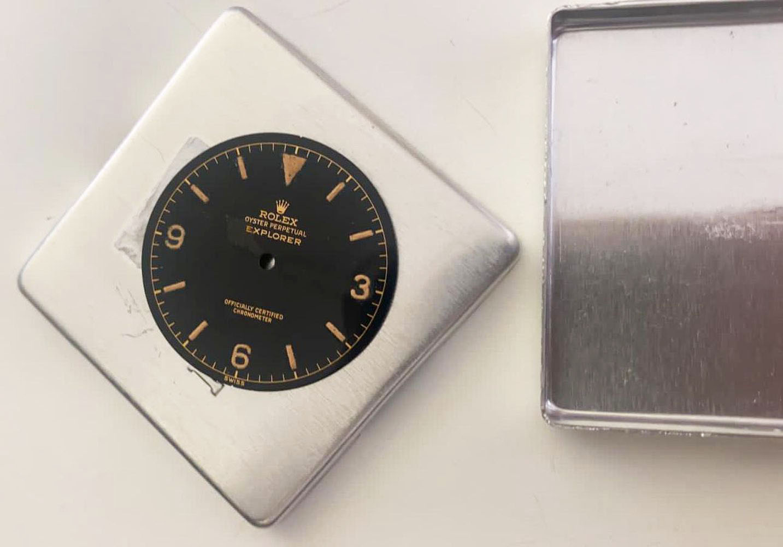 1950s Rolex Gents Explorer Dial Ref 6610, genuine 1950s rolex explorer dial showing some radium burn - Image 6 of 8