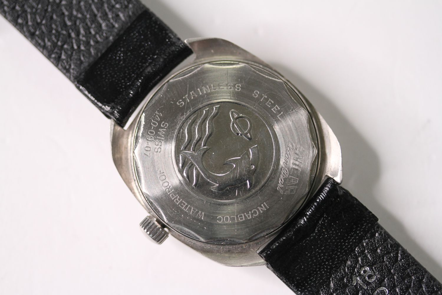 *TO BE SOLD WITHOUT RESERVE* ENICAR STAR JEWELS AUTOMATIC WRISTWATCH, circular cream dial with - Image 2 of 4