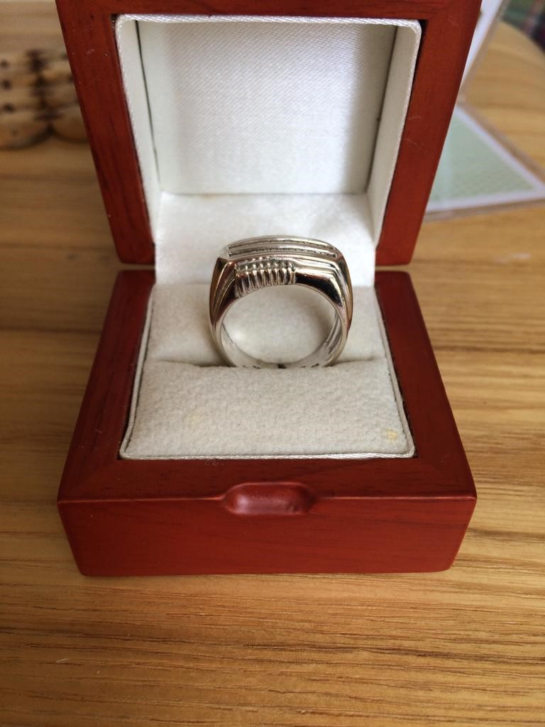 14ct White Gold Diamond Ring, approximately 10.5g, ring size R-S - Image 2 of 3