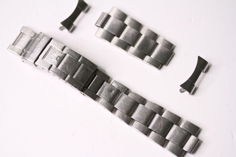 Vintage Rolex folded steel Bracelet, 9315 stamped end link, 280 stamped end pieces, approximately