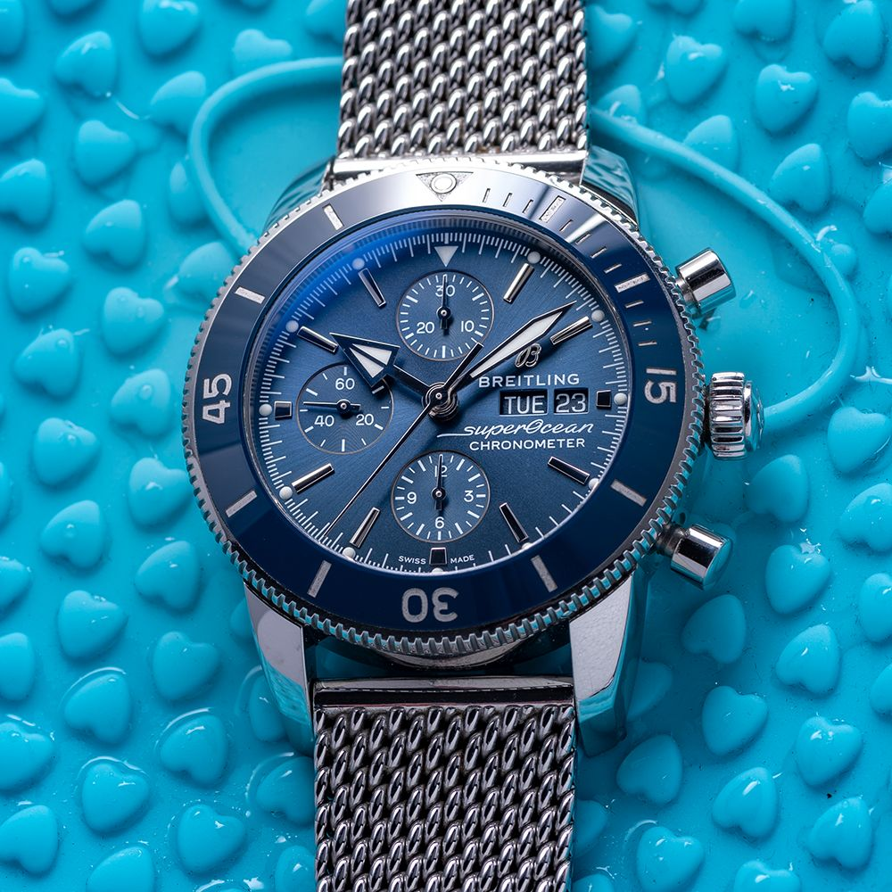 GENTLEMAN'S BREITLING SUPEROCEAN HERITAGE CHRONOGRAPH 44 BLUE , REF. A13313161C1A1, AUGUST 2018 - Image 2 of 10