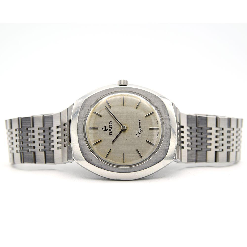 GENTLEMAN'S RADO ELEGANCE ULTRA THIN, REF. 396.3008.4, CIRCA 1970, 35MM, circular silver dial with