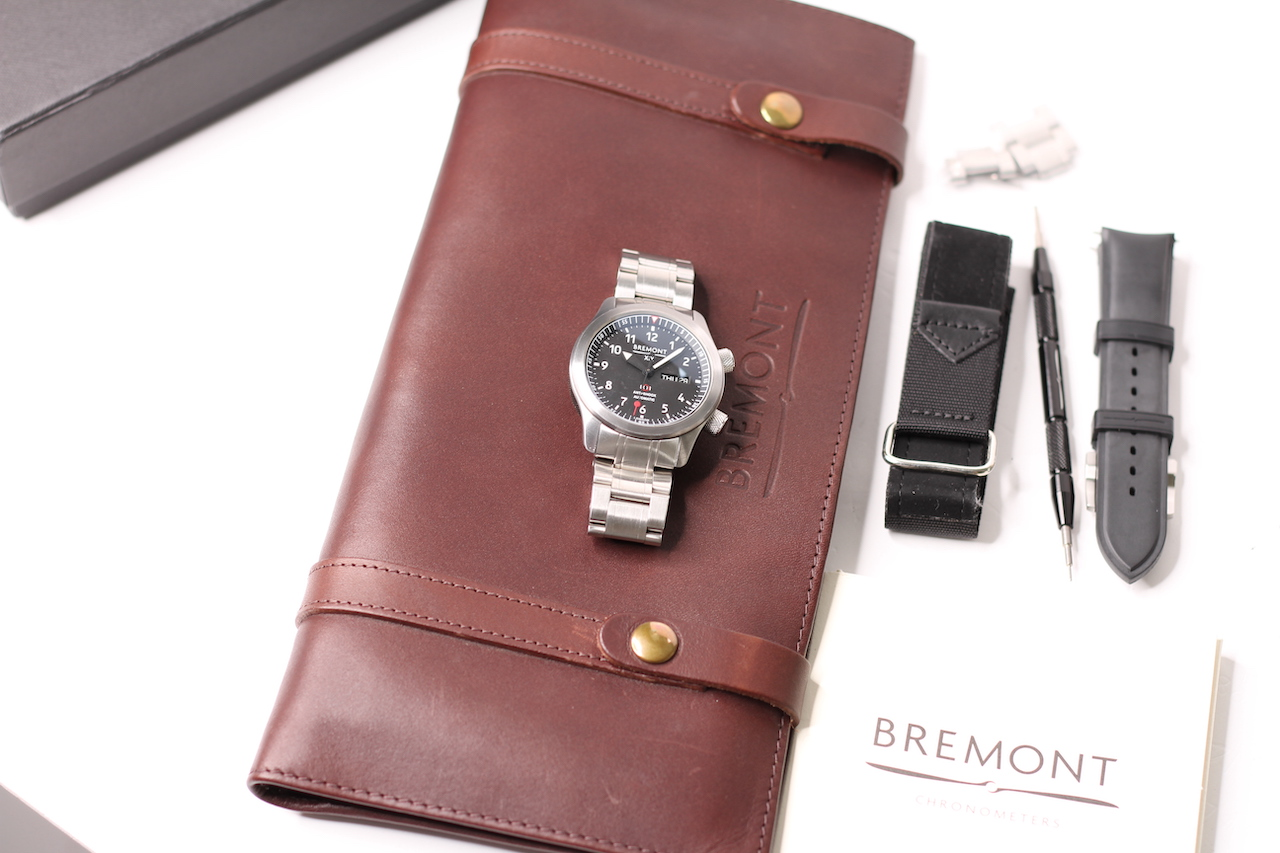 RARE MILITARY BREMONT SO19 ISSUED MB11 AUTOMATIC WATCH WITH BOX AND PAPERS 2015, circular black dial - Image 6 of 6