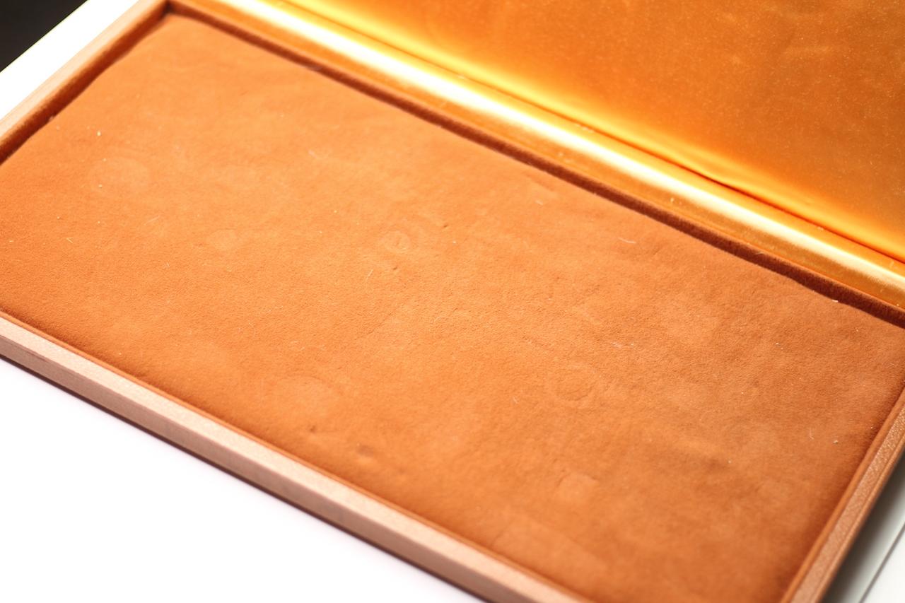 Vintage Oversized Omega Display Box, Tan Leather bound case, Velvet interior, approximately 46x25cm - Image 4 of 6