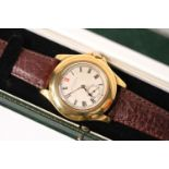 LONGINES x BOODLE & DUNTHORNE WRIST WATCH WITH BOX, circular cream patina dial with roman numeral
