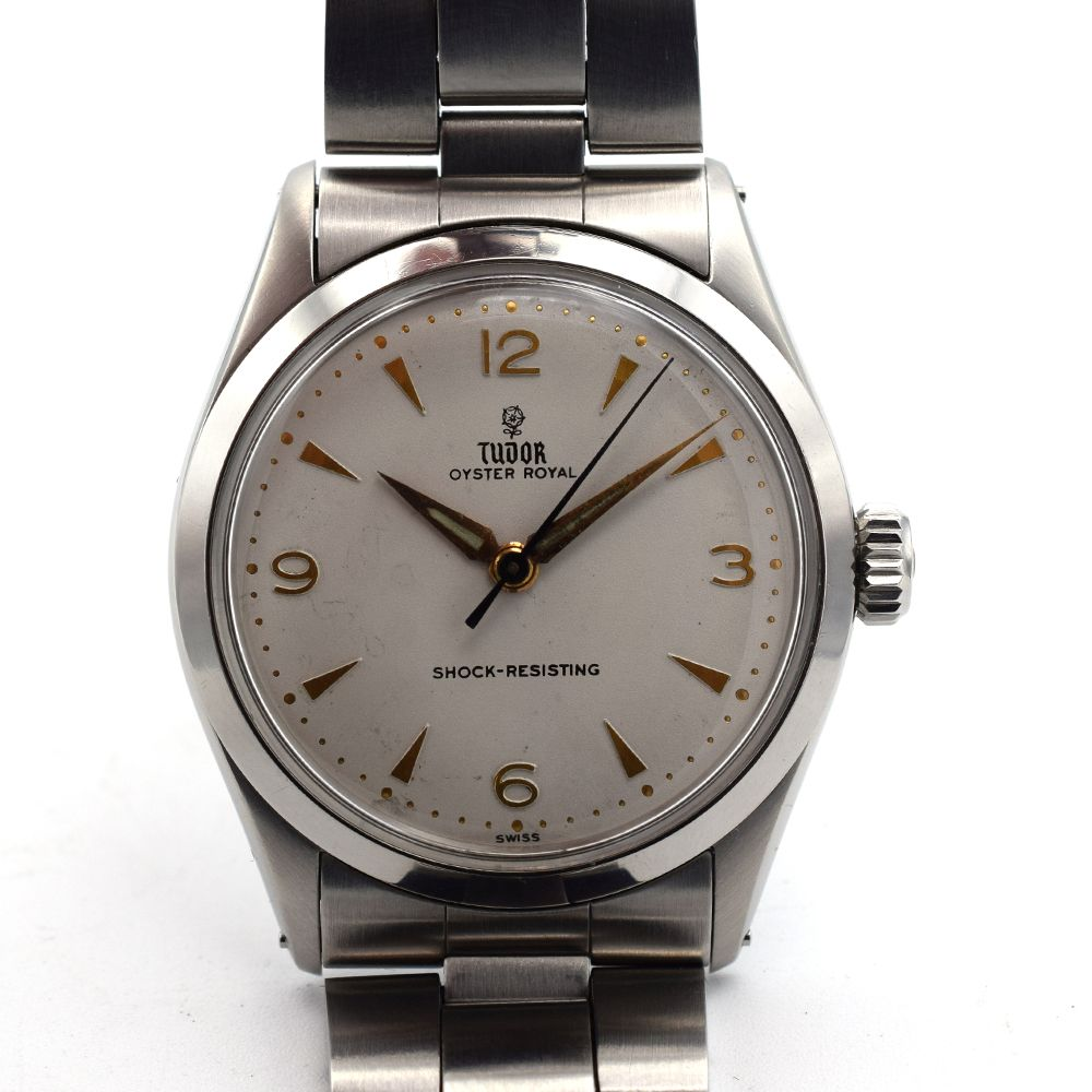 GENTLEMAN'S TUDOR OYSTER ROYAL, REF. 7934, CIRCA 1958/59, 34MM, BOX ONLY, circular white dial with - Image 7 of 13