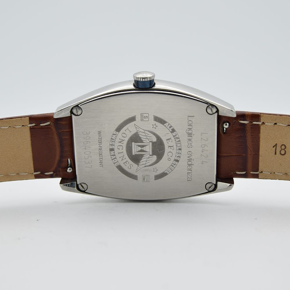 GENTLEMAN'S LONGINES EVIDENZA AUTOMATIC RECTANGULAR, REF. L2.642.4, BOX & BOOKLETS + BUCKLE, - Image 3 of 7