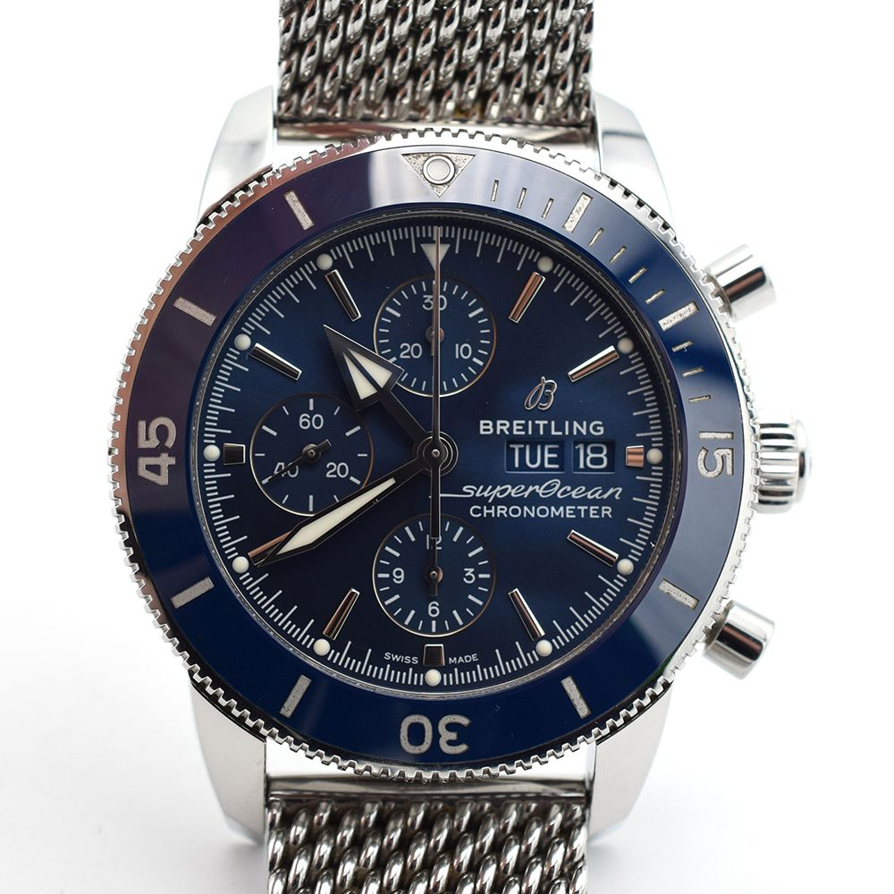 GENTLEMAN'S BREITLING SUPEROCEAN HERITAGE CHRONOGRAPH 44 BLUE , REF. A13313161C1A1, AUGUST 2018 - Image 7 of 10
