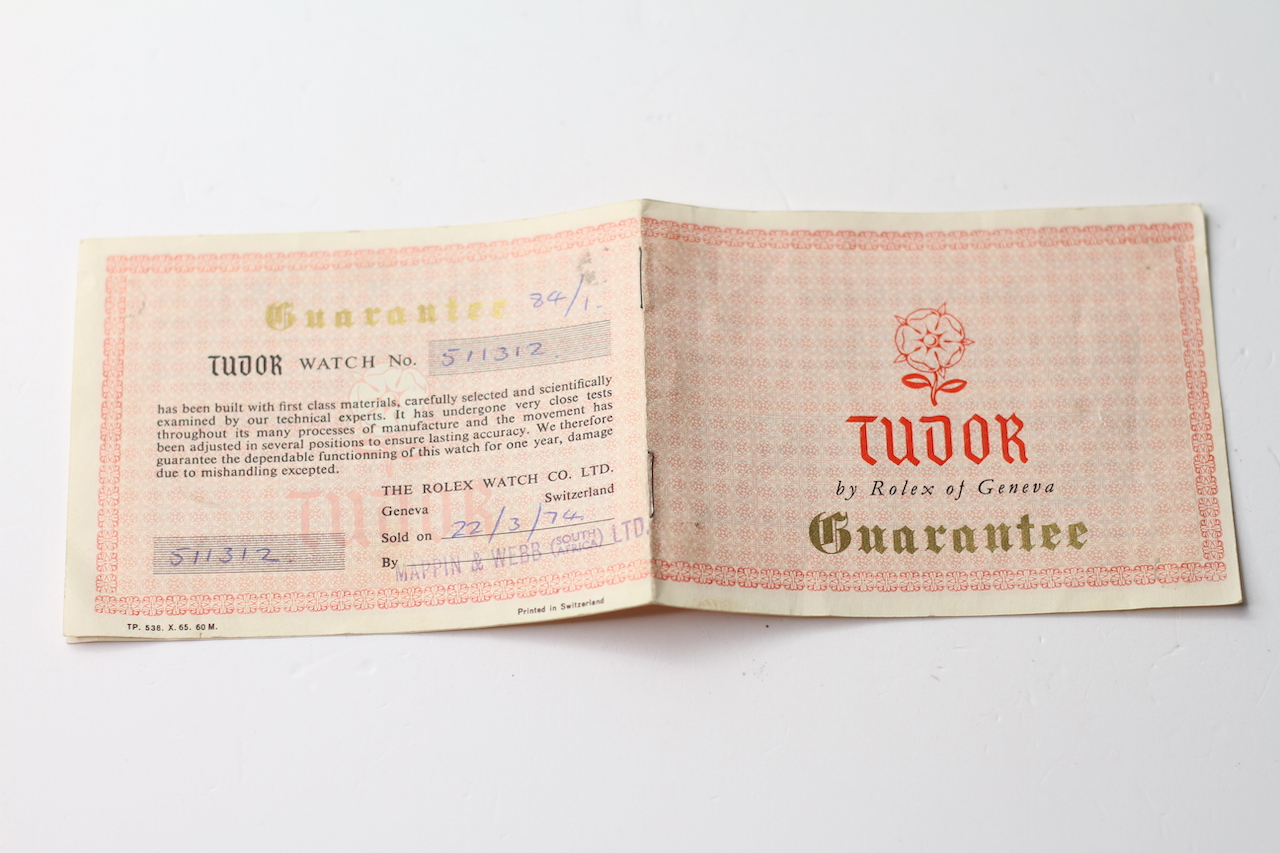 ROLEX AND TUDOR PAPERS, two pieces of guarantee paperwork for a Rolex DateJust dated 1970, Tudor - Image 4 of 7