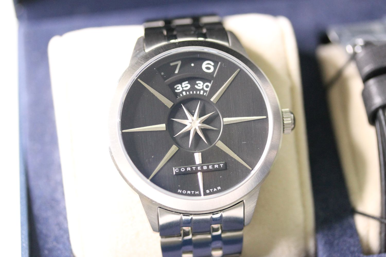 CORTEBERT CELESTIAL NORTH STAR WITH BOX AND PAPERS lIMITED EDITION, circular black dial, day and - Image 2 of 2