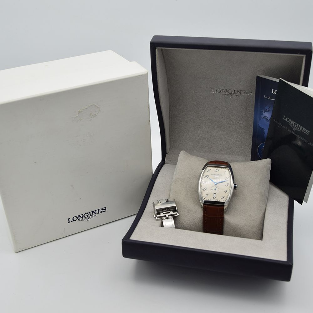 GENTLEMAN'S LONGINES EVIDENZA AUTOMATIC RECTANGULAR, REF. L2.642.4, BOX & BOOKLETS + BUCKLE, - Image 2 of 7