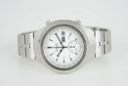 GENTLEMENS SEIKO HELMET AUTOMATIC CHRONOGRAPH WRISTWATCH, circular white dial with stick hour
