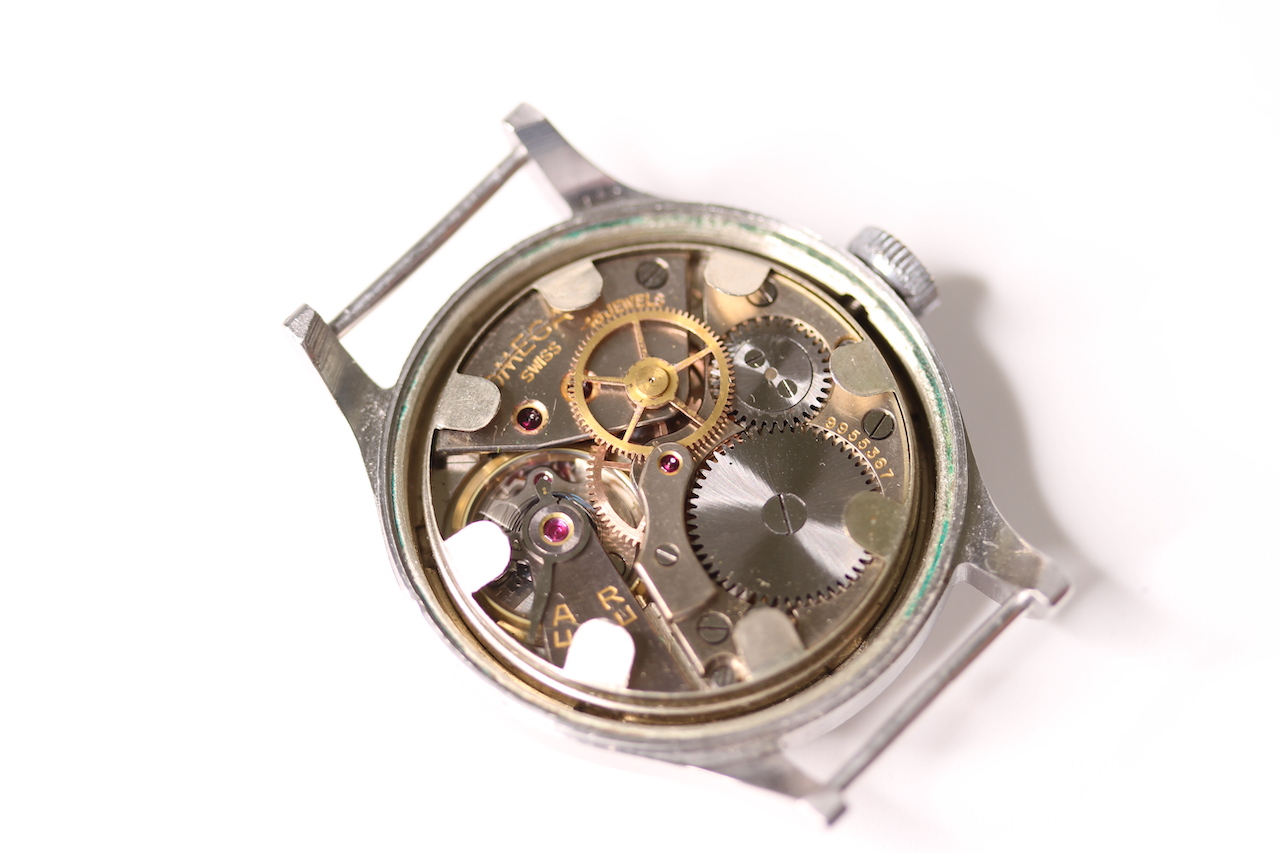 1956 MILITARY OMEGA AIR MINISTRY 6B/159 WITH PERIOD NATO STRAP, circular black dial with arabic - Image 4 of 4